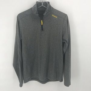 Reebok grey play warm quarter-zip pullover